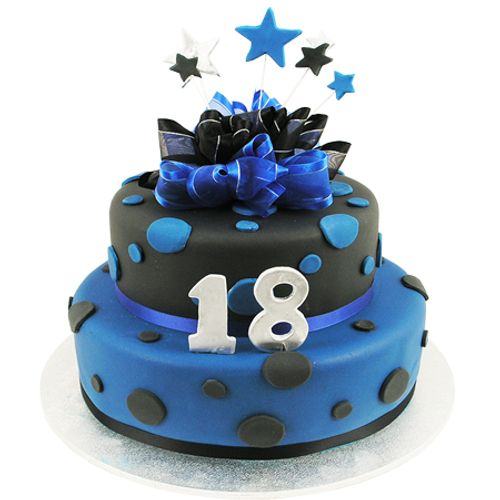 Stars and Dots Cake - Two Tiers