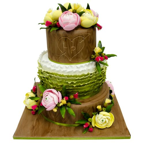 Love in the Forest Wedding Cake
